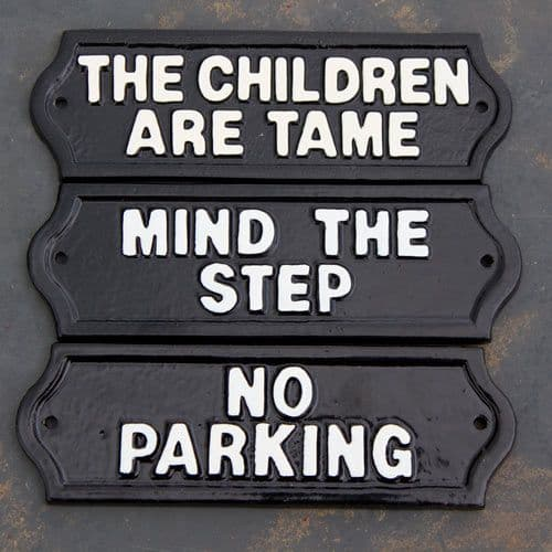 Cast Metal Signs
