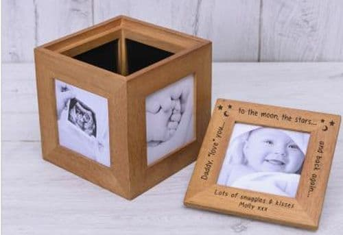 Daddy love you.... Oak Photo Box