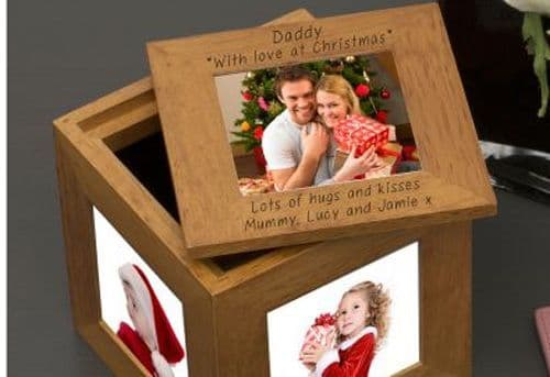 Daddy, with love at Christmas Oak Photo Box (1)