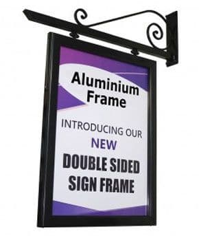 Double Sided Hanging Panel With Aluminium Frame