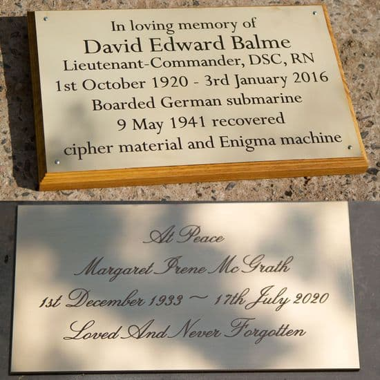 Engraved Brass Memorial Plaques
