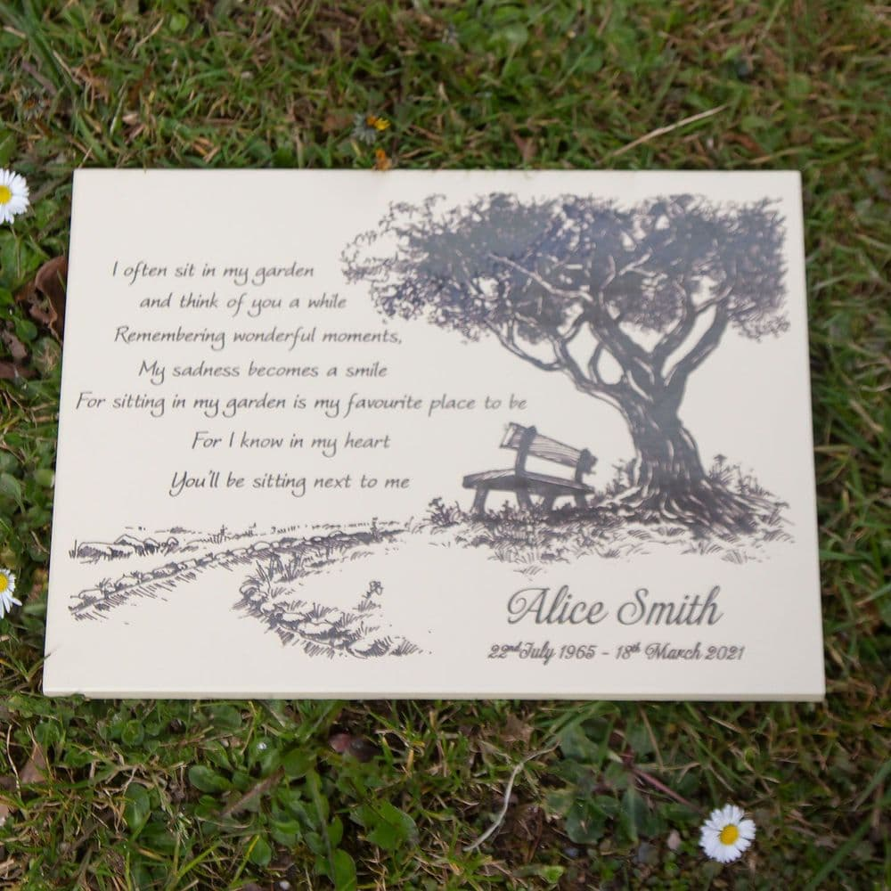 Etched Slate Memorial - 12mm thick