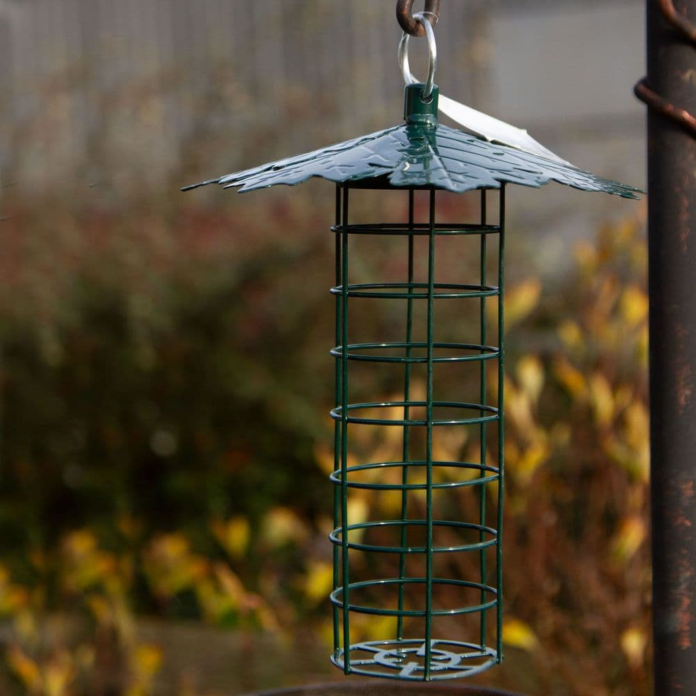 Fat Ball Feeder with Leaf Roof