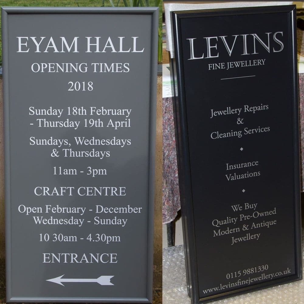 Framed Aluminium Signs - Bullnose Edge