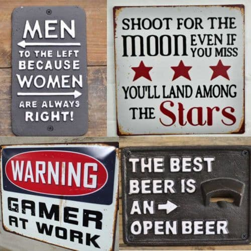Fun  Metal Signs