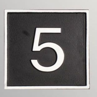 Hand Painted Cast Square House Number STHN9