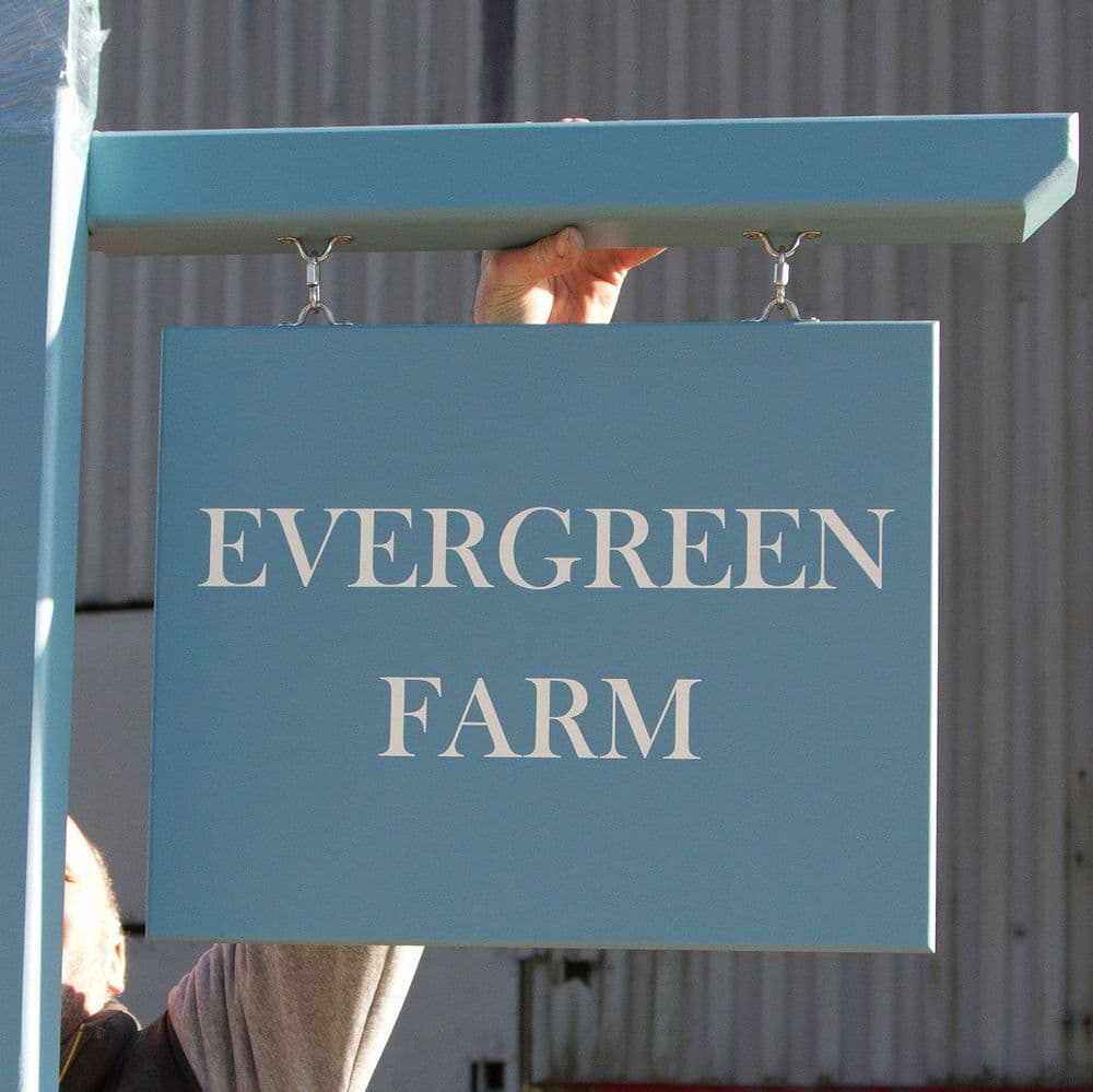 Hanging Sign - Painted Lettering on 18mm Tricoya - Double Sided