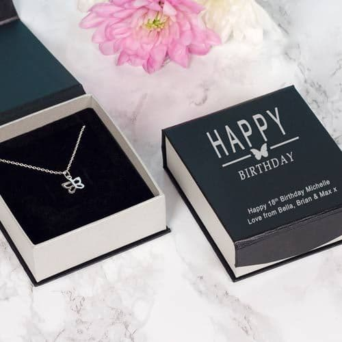 Happy Birthday Butterfly Necklace