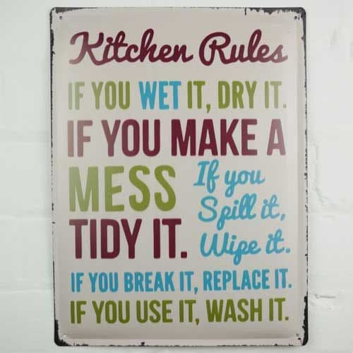 Kitchen Rules Sign