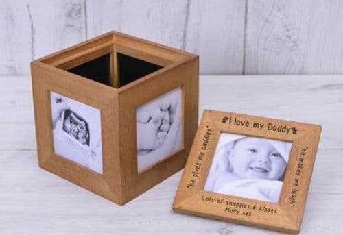Love Daddy Oak Photo Cube