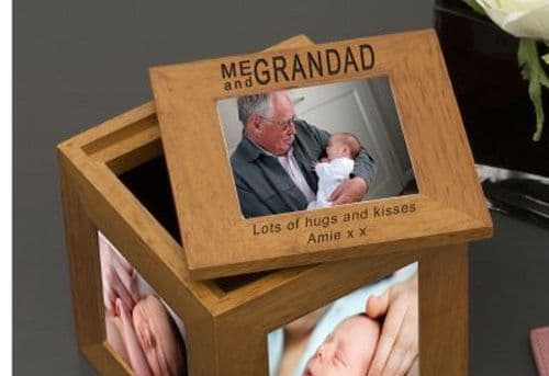 Me and Grandad Oak Photo Box