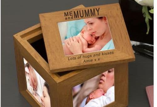 Me and Mummy Oak Photo Box