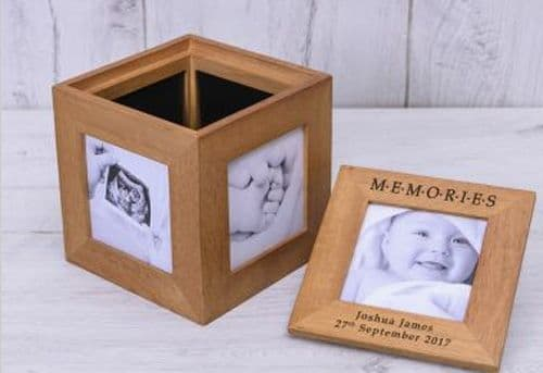 Memories Oak Photo Box