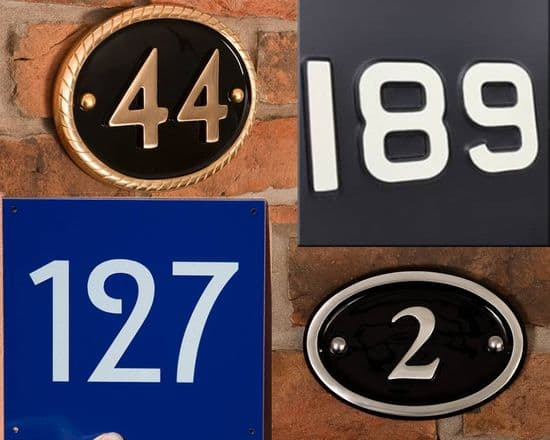 Metal  House  Numbers