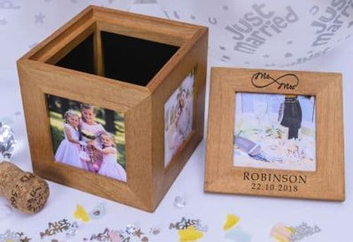 Mr/Mrs Infinity Oak Photo Box