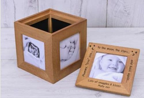 Mummy love you.... Oak Photo Box