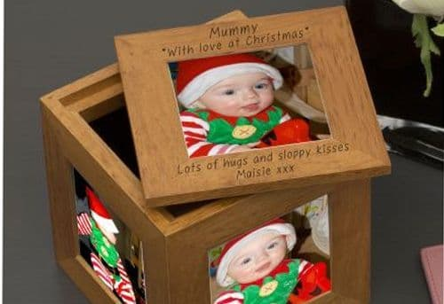 Mummy, with love at Christmas Oak Photo Box