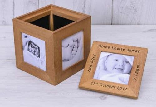 New Baby Oak Photo Cube