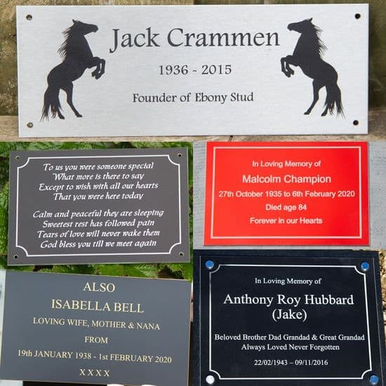 Other Engraved Memorial Plaques