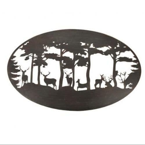 Oval  Metal Stag Wall Art