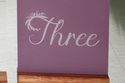 Painted Acrylic Table Names