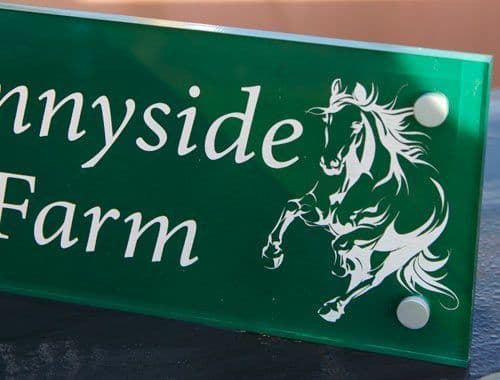 Painted  and Etched Acrylic Signs and Plaques
