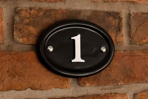 Painted Cast Aluminium House Number Sign