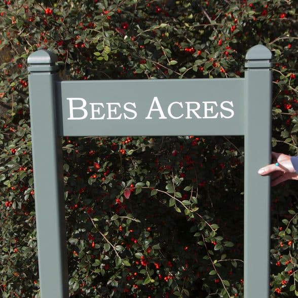 Painted Wooden Entrance Signs with Posts | The Sign Maker Shop