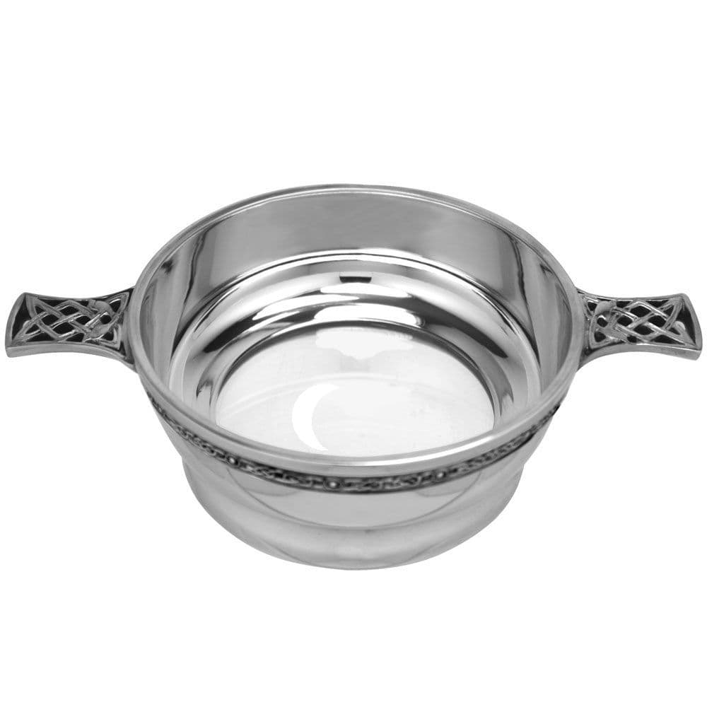 Pewter Quaich With Glass Bottom - 2 sizes