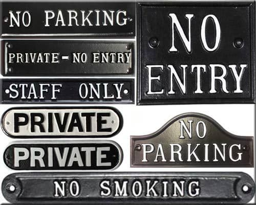 Private, No Parking, Information