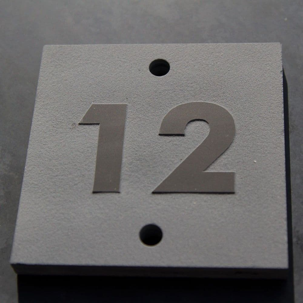 Raised Slate House Numbers