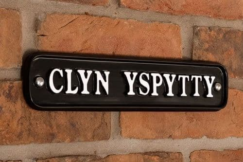 Rectangular Cast Aluminium House Sign - Painted Letters - A1 - 305mm x 65mm