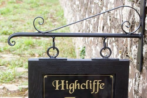 Scroll End Wrought Iron Brackets with Extra Scroll| The Sign Maker Shop