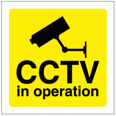 Security Sign -  CCTV In Operation (2974)