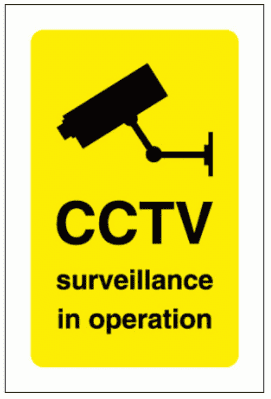 Security Sign -  CCTV Surveillance In Operation (2872)