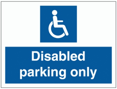 Security Sign - Disabled Parking Only (2992)