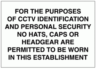 Security Sign -  For The Purposes Of CCTV Identification (2722)