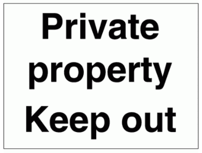 Security Sign -  Private Property Keep Out (2959)
