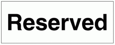 Security Sign - Reserved (2945)