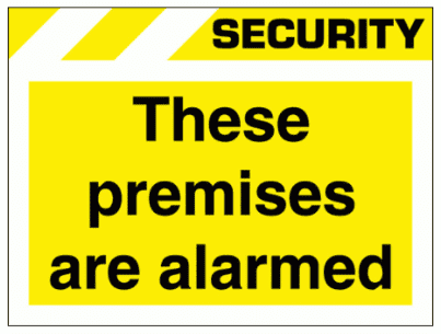Security Sign - These Premises Are Alarmed (2641)