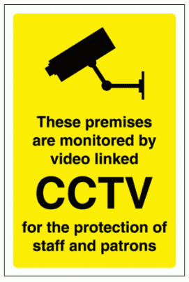 Security Sign - These Premises Are Monitored By Video Linked CCTV (2871)