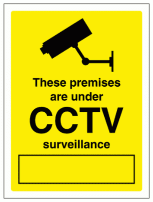 Security Sign -  These Premises Are Under CCTV Surveillance (2950)