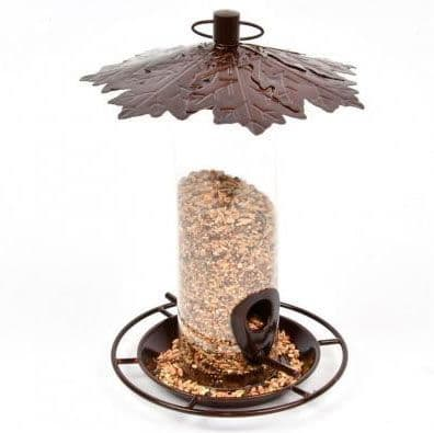 Seed Feeder with Leaf Roof