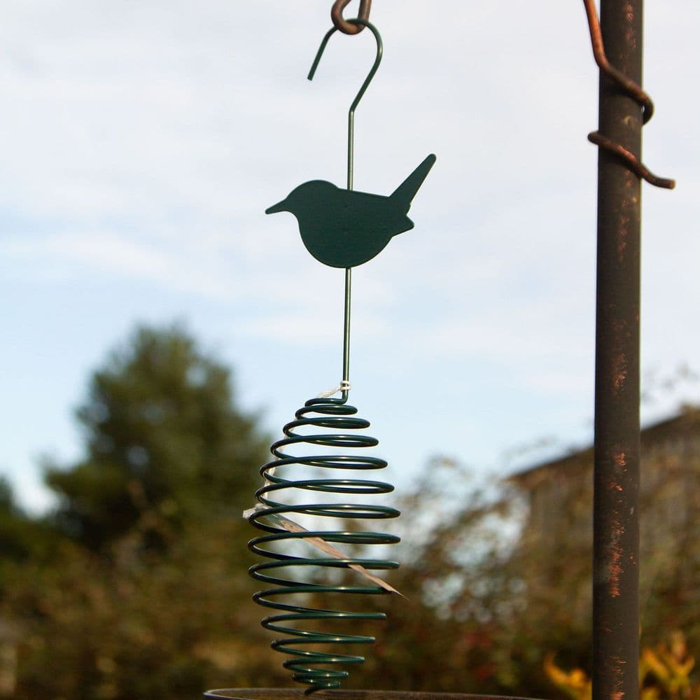Set of 4 Fat Ball Spring Feeders