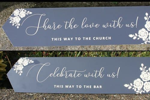 Shaped  Event Arrow Signs