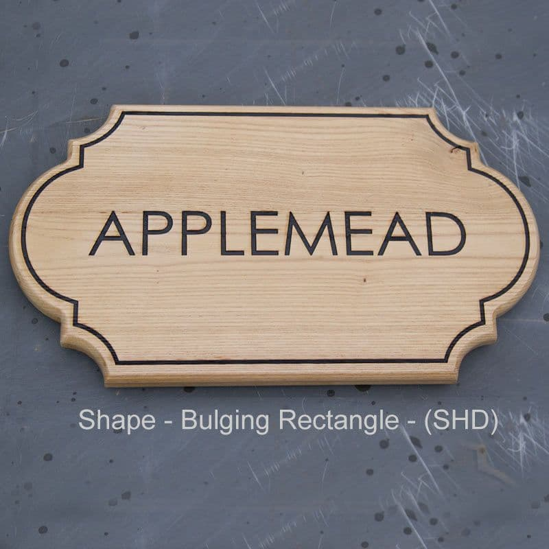 Shaped Wooden House Signs