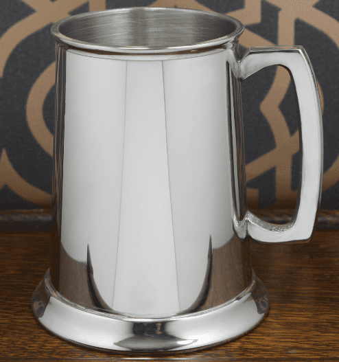 Simple Pewter Tankard - 1 Pint or Half Pint