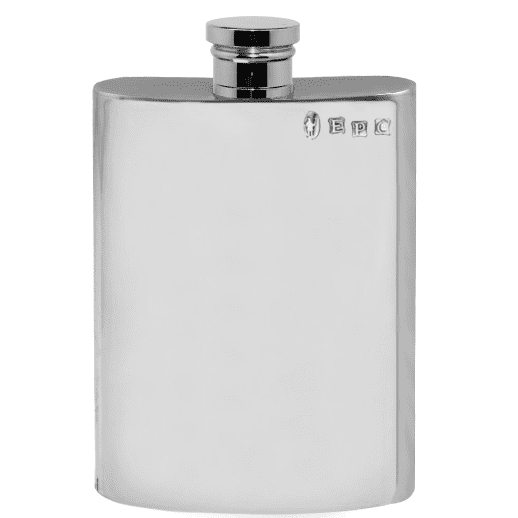 Simple Polished Pewter Hip Flask