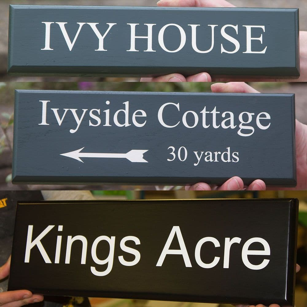 Single Sided Painted Accoya Signs