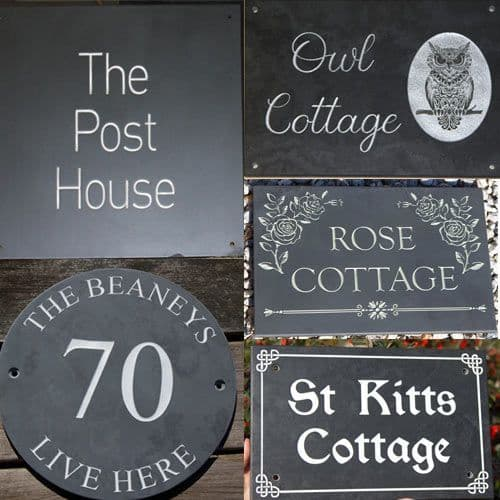 Slate House Signs & Large Slate Signage